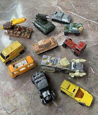 Vintage Junk Drawer Lot,Diecast Toy Cars Trucks,Redline Hot Wheels,Matchbox,Tomy