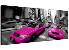 Pink Large Canvas Print of New York Taxi Manhattan 1026