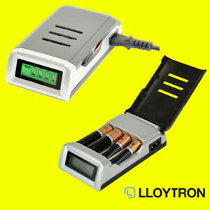 Lloytron B1551 Smart Charger for AA & AAA Alkaline Batteries Mains Charged