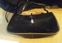 015 Vintage? Cristian Black Leather Purse Handbag Italy Made Magnet Clasp