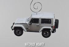 2014 Jeep Wrangler Polar Edition Unlimited Christmas Ornament 1/43 Hard Top