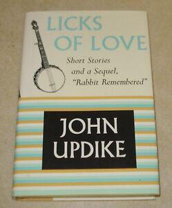 Signed John Updike 1st Ed 1st Licks of Love Short Stories Sequel Rabbit HCDJ