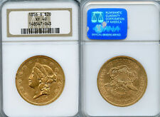 1856-S $20 Gold Coin NGC XF40
