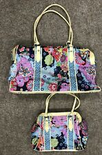 Oilily Luggage Bag Set, Floral, Used, Large And Small Bag, Genuine
