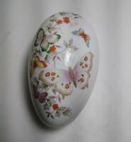 Vintage 1974 1979 R  Avon Fine Porcelain Decorated Easter Egg with 22K Gold Trim