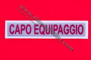 PATCH SCUDETTO TOPPA RIFRANGENTE QUALIFICA CAPO EQUIPAGGIO GRANDE SU STRAPPO ROS