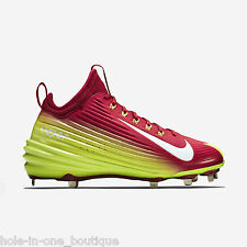 New Nike Lunar Vapor Mike Trout Metal Baseball Cleats Red Volt Size 12.5