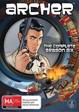 ARCHER : COMPLETE SEASON 6   -  DVD - REGION 4 - Sealed