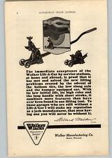 1925 Paper Ad Walker Lift-A-Car Jacks Walker Manufacturing Co Racine WI