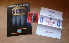 NOS Metzeler Brochure w/Decal+Mailer 1976 BMW Moto Guzzi Ducati Laverda Benelli