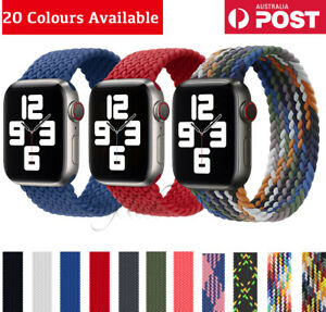 For Apple Watch Series 654SE Elastic Nylon Braided Solo Strap Band 38/40/42/44