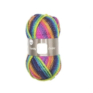 FabFinds Chunky Ombre Knitting Yarn Acrylic Wool Soft Bright Multicoloured 100g