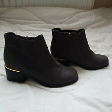 NEW LOOK LADIES SHORT BOOTS SIZE 5 GREY WORN ONCE