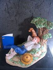 Normal Rockwell Museum 1981 Spring Fever Figurine Boy & Dog Under Tree