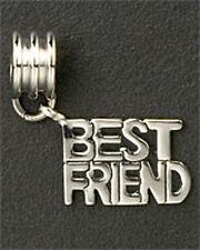 BEST FRIEND Dangle Charm Fits European Bead Bracelet Family Stainless Steel New