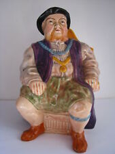 PORCELAIN FIGURINE KING HENRY VIII MECHANICAL MUSIC MUG JUG Wain & Sons England