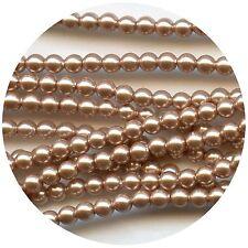5810 12 RG *** 4 perles nacrées de Swarovski réf. 5810 rondes 12mm ROSE GOLD