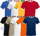 T-shirt RINGER Uomo FRUIT OF THE LOOM Maglia S M L XL XXL Manica Corta 61-168-0