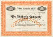 The Baldwin Company > Dwight Hamilton Cincinnati Ohio piano stock certificate