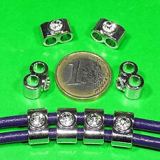 16 Separadores 14x8mm  T341C  Spacer Beads Anhänger Ciondolo Pingente Charms