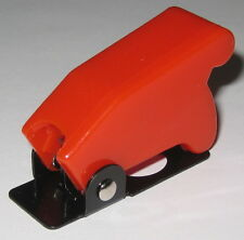 """Toggle Switch Safety Cover - RED - 1/2"""" Diameter Opening - Heavy Duty Plastic"""