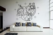 Wall Vinyl Sticker Decal Anime Manga Sailor Moon Girl VY191
