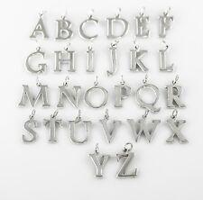 Echt 925 Sterling Silber Buchstaben Anhänger, silberschmuck, Geschenk