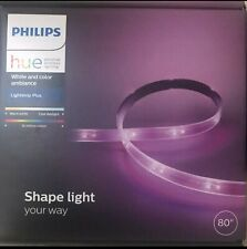 Philips Hue 80 In. White and Color Ambiance LED Dimmable Light Strip Plus - NEW