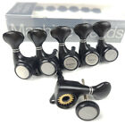 6 In Line Black Guitar Tuning Pegs Locking Tuners Machine Heads for GOTOH Style for sale