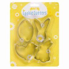 Coniglietto Pasqua Pulcino Uova Confezione Da 4 Stampi Per Biscotti
