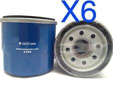6X Oil Filter Suits Z436 Mitsubishi Nimbus 2.4L UG UGII Petrol 4Cyl 4G64B 98-04