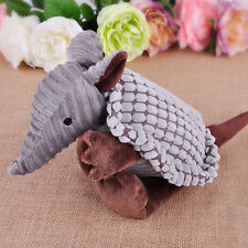 Cute Little Armadillo Plush Sound Squeaky Animal Pet Dog Training Chew Toys