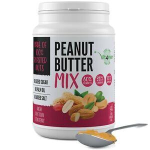 ERDNUSSBUTTER (MIX) 1kg / 1000g o. Zusätze - vegan 100% Erdnüsse Cashew + Mandel