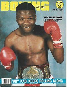 JUNE 1994 BOXING WORLD MAGAZINE THE BEAST VUYANI BUNGU SOUTH AFRICAN CHAMPION