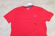 HOLLISTER Herren T-Shirt Rot 100% Baumwolle Größe M, L oder XL Neu