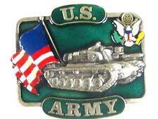 New listing U.S. Army Tank Usa Flag Belt Buckle 1982