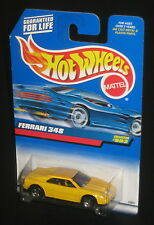 Hot Wheels 1999 #993 Ferrari 348 Yellow Black Interior Red HW Logo 5SPs 23803
