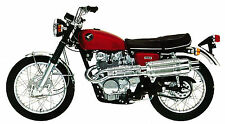 HONDA Poster CL450 1968 1969 and 1970 Red Suitable to Frame