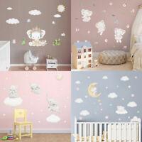 Baby Elephant Wall Sticker Cute Animal Star Decals Kids Room Nursery Art Sticker