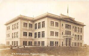 H56/ Pasco Washington RPPC Postcard c1910 High School Building 4