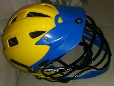 Cascade Cpx Adjustable Lacrosse Helmet Yellow Blue Adult Size Great Color L@K