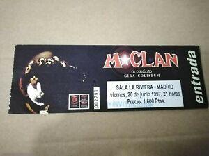 M CLAN Sala la riviera - Madrid 20 de junio 1997 Entrada ticket