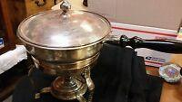 Antique silver plated double boiler set