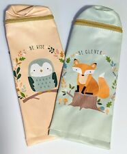 Back to School Pencil Case- 2 Pack Owl And Fox Pens Markers