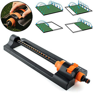 16 Hole Oscillating Lawn Sprinkler Watering Garden Water Pipe Hose Connector UK