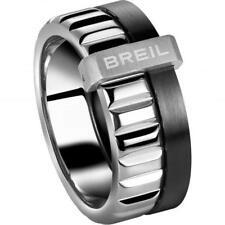 Anello Breil Gioielli Tj1757 Uomo Breilogy acciaio Ludico Silver Nero misura 21