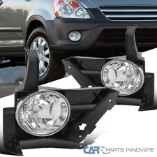For 05-06 Honda CRV CR-V Clear Front Fog Lights Driving Bumper Lamps Pair+Switch