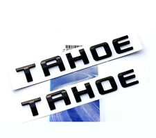 2x GENUINE Black TAHOE Nameplate EMBLEM Letter for GM 07-16 Chevrolet Glossy  FU