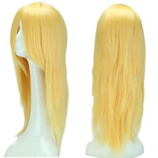 Ombre Cosplay Wig Long Curly Wavy Party Costume Women Heat Safe Synthetic Wig #a