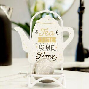 Highgrove Tea Time Stand with Hanging Tea Infuser Hamptons Coastal Kitchen Decor